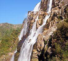Full View of Jang Falls, Tawang, India. by Arun Dasgupta