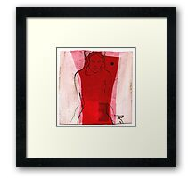 woman in the wind 1 Framed Print