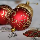 Red Baubles by Heather Thorsen