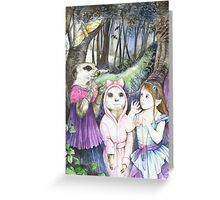 Noises in The Night Greeting Card
