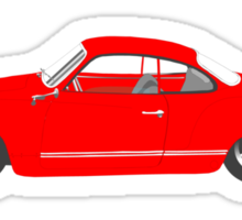 Red Karmann Ghia Sticker