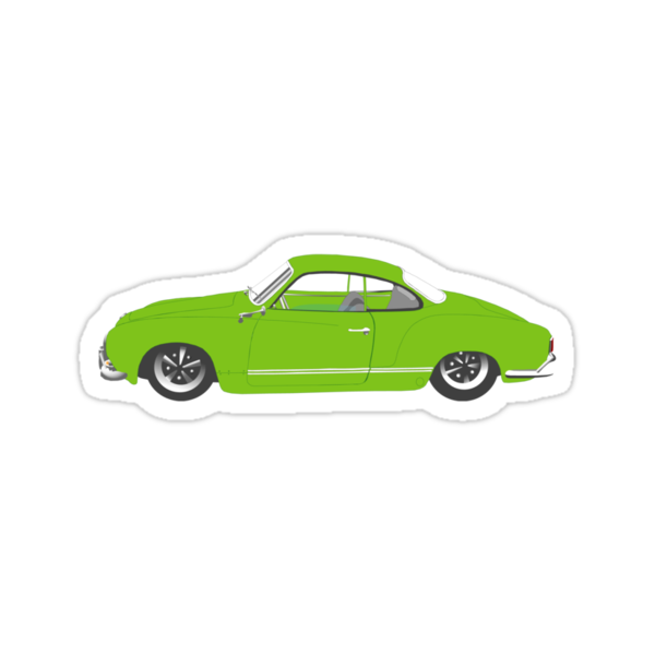 Green Karmann Ghia Tshirt by MangaKid