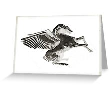 Rise of the Silver Pegasus Greeting Card