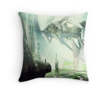 Waiting for the last launch Throw Pillow