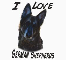 I love german shepherds shirt ( black writting) by mandyemblow