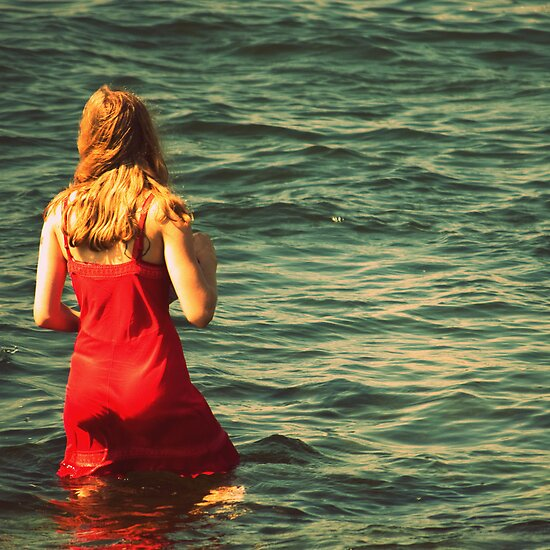 Girl in the Water - Newport, Rhode Island by Hampton Taylor
