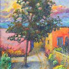 tree in taos village by sharlesart