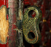 2000 year old door - China 2006  by John  Kowalski