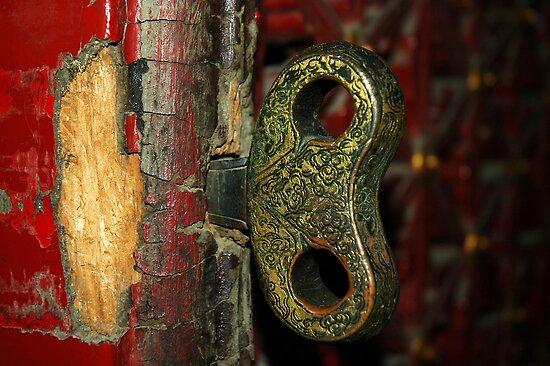2000 year old door - China 2006  by John  Kowalski