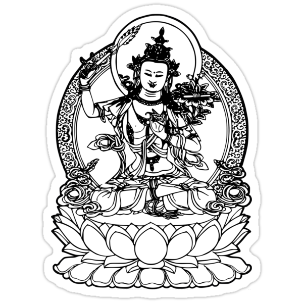 Buddha with Sword on Lotus t-shirt by buddhabubba