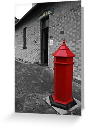 The Red Postbox - Albany, Western Australia. by Eve Parry
