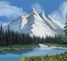 Alaska after Bob Ross by MayWebb