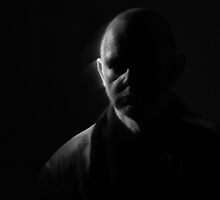 Self Portrait in Low Key by Andrew  Makowiecki