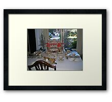 Dinner's Ready, company's a'coming Framed Print