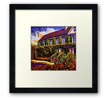 Vines on Claude Monet's House Framed Print
