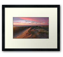 Sleeping Bear Dunes Sunset Framed Print