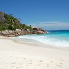 white sand in Seychelles by rondinara