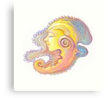 Portrait  of girl - snail Canvas Print
