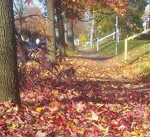 Sidewalk in Autumn by mltrue