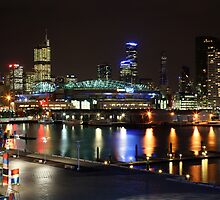 Docklands By Night, Melbourne, Australia by Michael Boniwell