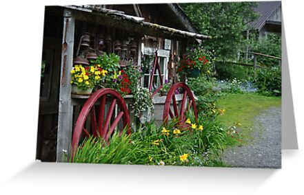 Red Wagon Wheels by Sally Winter