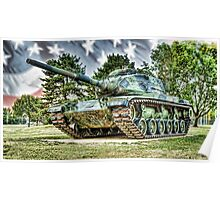 Red Arrow Battle Tank Poster