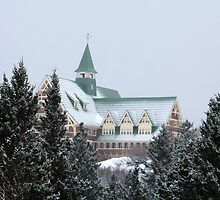 Prince of Wales Hotel in Winter by Alyce Taylor