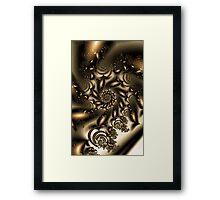 Gold Spiral  Roses Framed Print