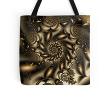 Gold Spiral  Roses Tote Bag