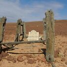 Lonely desert grave, Innamincka. SA. by lib225