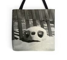 Turtle skull on beach Tote Bag