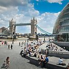 London City Hall and Tower Bridge by DonDavisUK
