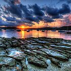 Sunset On The Rocks - Paradise Beach, Sydney  The HDR Experience by Philip Johnson