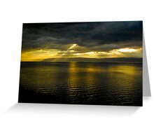 Sun Shines Over Israel and the Dead Sea  Greeting Card
