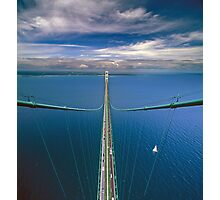 A View from the South Tower of the Mackinac Bridge Photographic Print