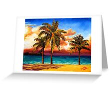 Jamaican Beach Palm Trees Greeting Card