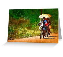 Ride to town Greeting Card