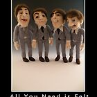 Li'l Beatles - Needle Felted Art Dolls by feltalive