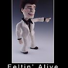 Li'l Travolta - Needle Felted Art Doll by feltalive