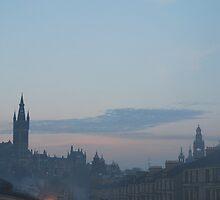 West End of Glasgow.  Winter Skyline  by clara  caulfield