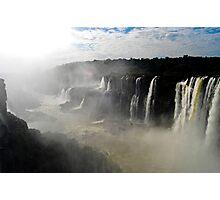 Iguazu Falls Seen from Brazil Photographic Print