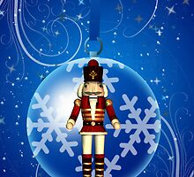 Nutcracker Soldier Holiday Tree Decoration Card by Moonlake