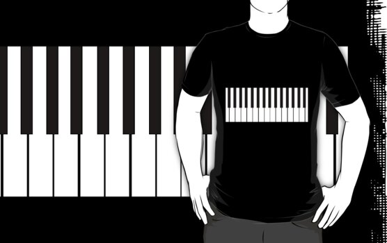 Piano Keyboard T-Shirt by simpsonvisuals