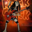 Rock Chick Poster By Moonlake Designs, Rock Chick Rag Doll H.I.P by Moonlake