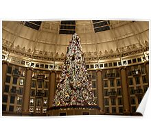 Christmas Tree at West Baden Poster