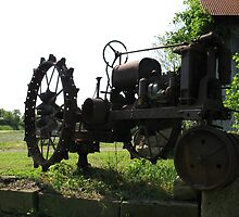 A Vintage Tractor by Theodore Kemp