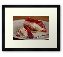 Strawberry Cheesecake Framed Print