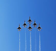 Thunderbirds Delta Formation by gladyanne