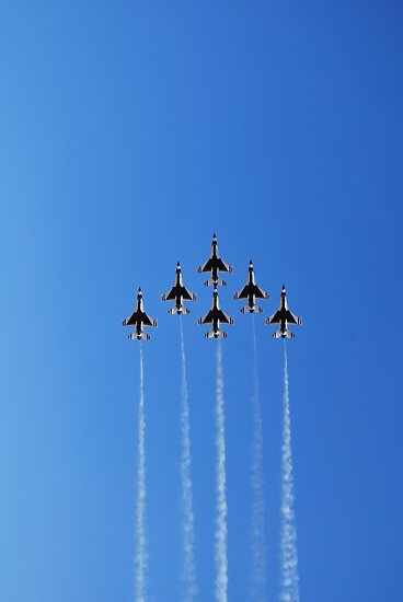Thunderbirds Delta Formation by gladyanne
