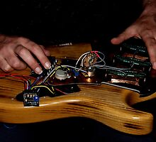 Guitar electronics by Erika Gouws
